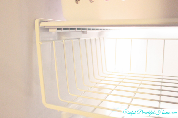 Super simple creative fix for maximizing the organization in the freezer!