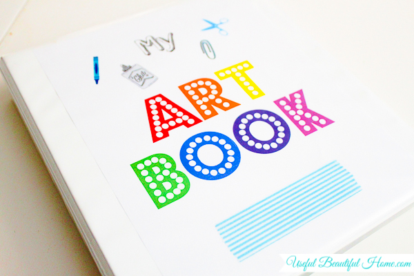 Kids Drawing Book Cover ~ Organizing artwork