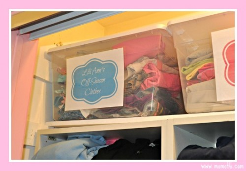 Girls-Closet-with-Bins 1