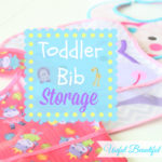 A creative way to store toddler's bibs in between meals!