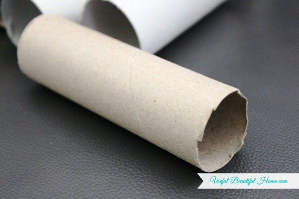 Empty paper towel rolls cut in half or toilet paper rolls are re-purposed for tie organization!