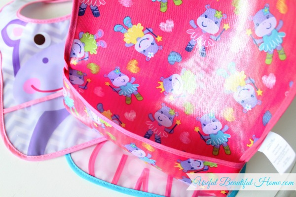 How to organize pocket style toddler bibs