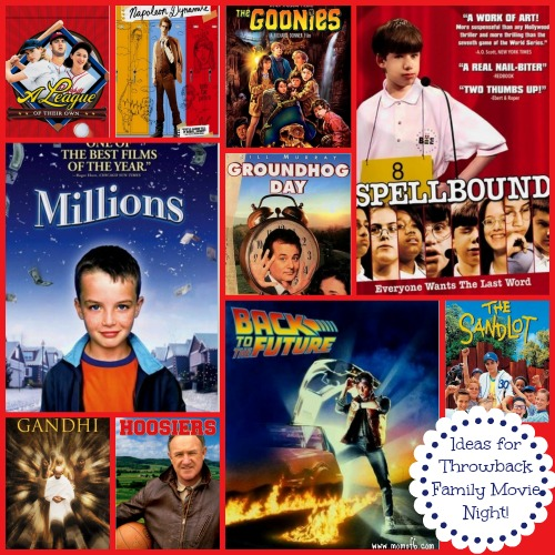 Ideas for Throwback Family Movie NIght