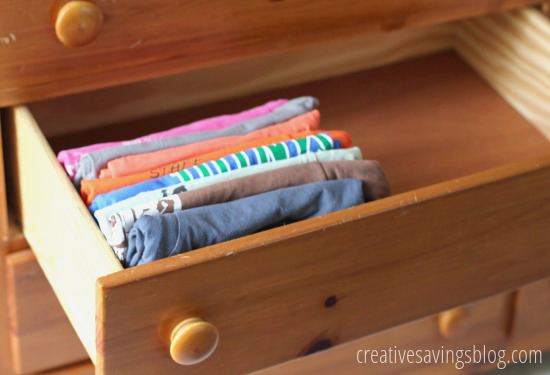 How to organize your t shirts for T shirt drawer organization