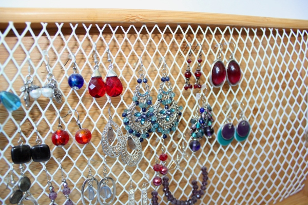 DIY Hook Earring Organizer 4
