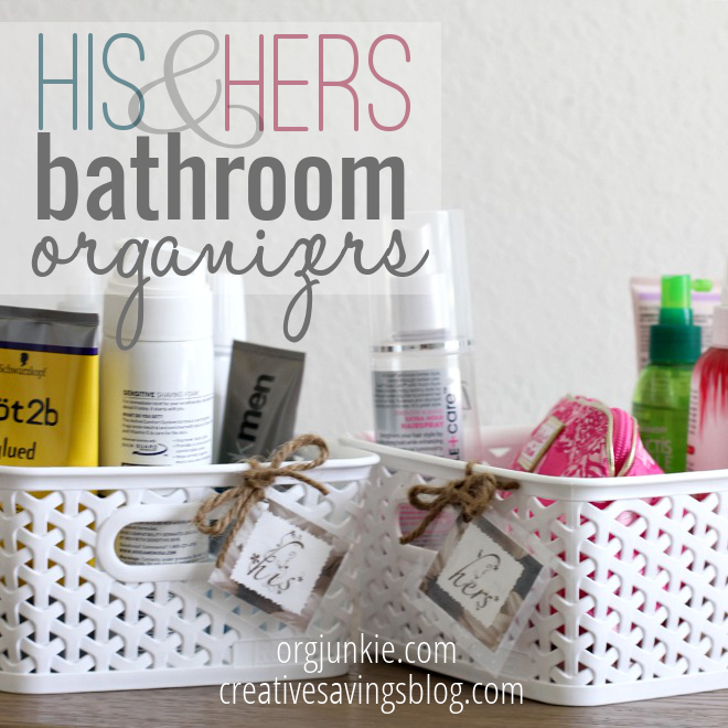 His and her bathroom organizers for Bathroom organizers
