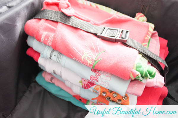 Simplify children's clothing choices while on vacation by making easy clothing bundles