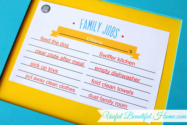 Age-appropriate-childs-job-list-posted-on-the-command-center