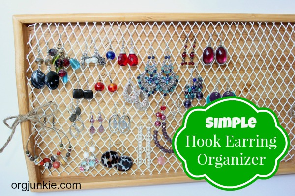DIY-Hook-Earring-Organizer and some great organizing advice