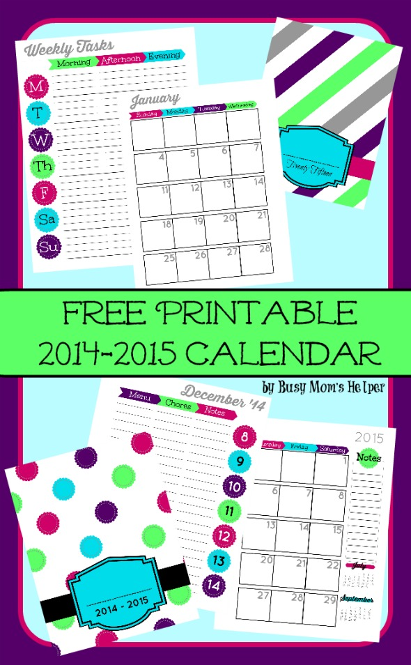 Free Printable 2015 Planner Dealing With Husband S Clutter