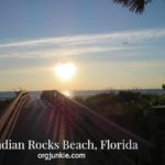 Sunset over bridge at Indian Rocks Beach, Florida