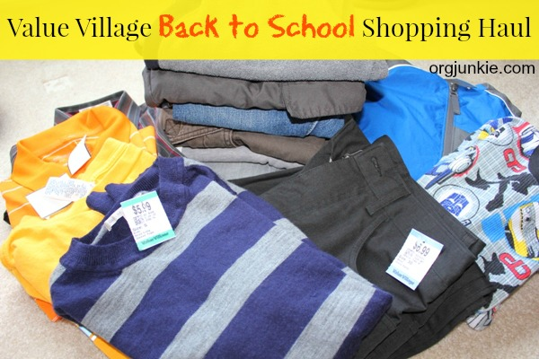 Value Village Back to School Shopping Haul