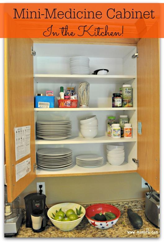 Mini Medicine Cabinet In The Kitchen