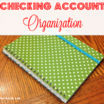 Checking Account Organization