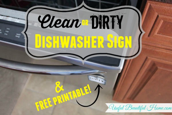 clean or dirty dishwasher sign free printable to help