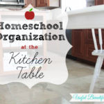 Homeschooling at the kitchen table can be organized