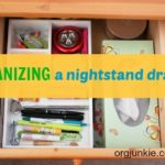 Quick Organizing Tasks: Nightstand Drawer
