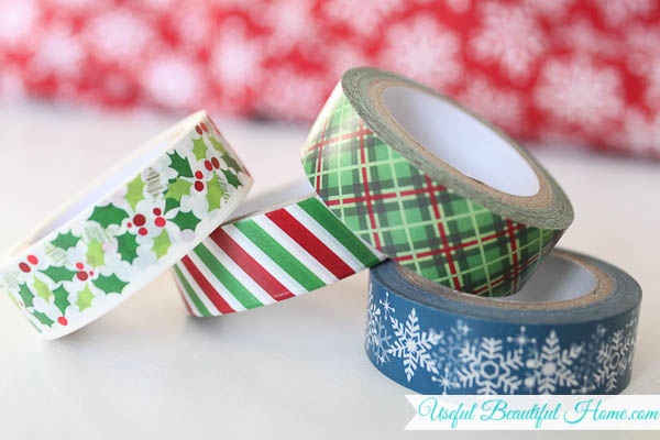 Love using washi tape for holiday labels.