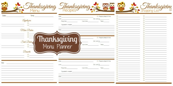 Agile image throughout thanksgiving menu planner printable