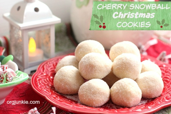 Cherry Snowball Christmas Cookies 3