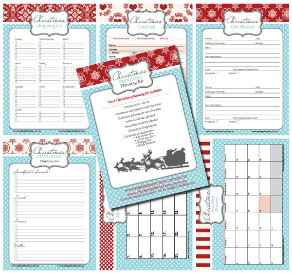 Challenger image for christmas planner printable