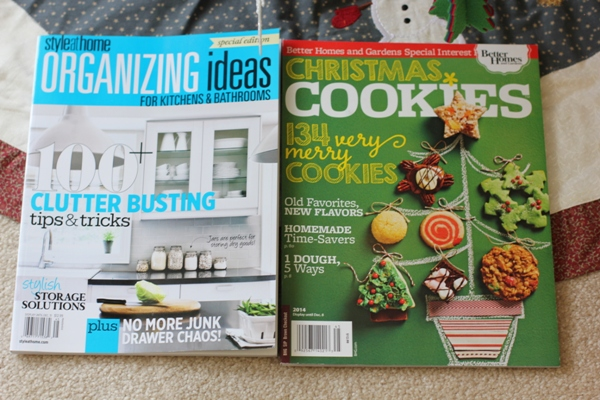 Style at Home Organizing Ideas and Christmas Cookies magazine giveaway!