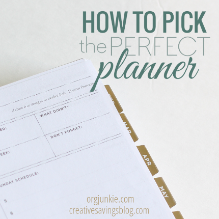 How to Pick the Perfect Planner