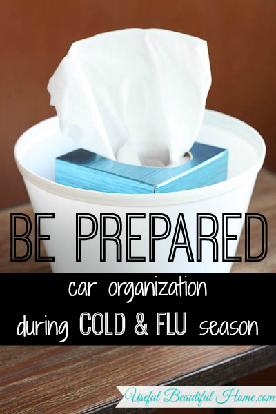 Be Prepared Car Organization During Cold & Flu Season at I'm an Organizing Junkie blog