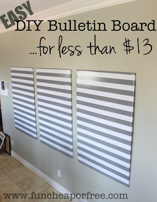 Large diy bulletin board fun cheap or free