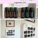 Thrift Store Essential Oils Storage collage
