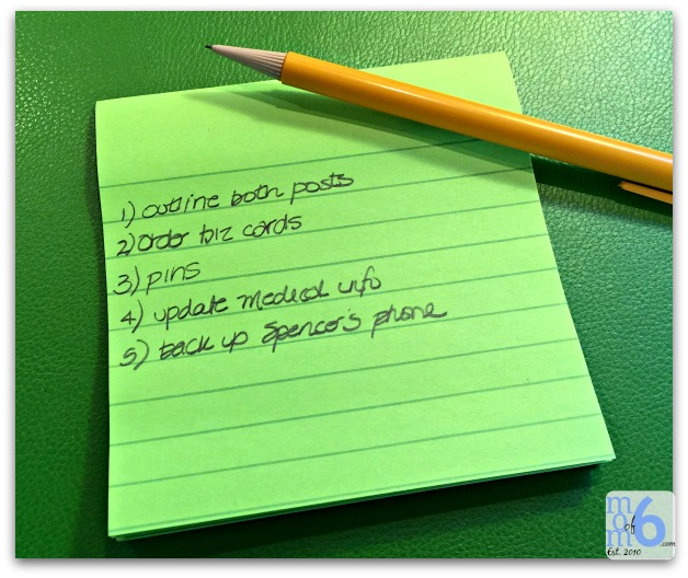 ways to feel more organized- 5 item to do list