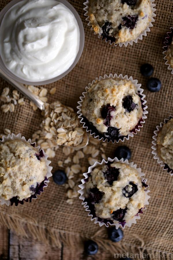 yogurt blueberry oatmeal muffins 3