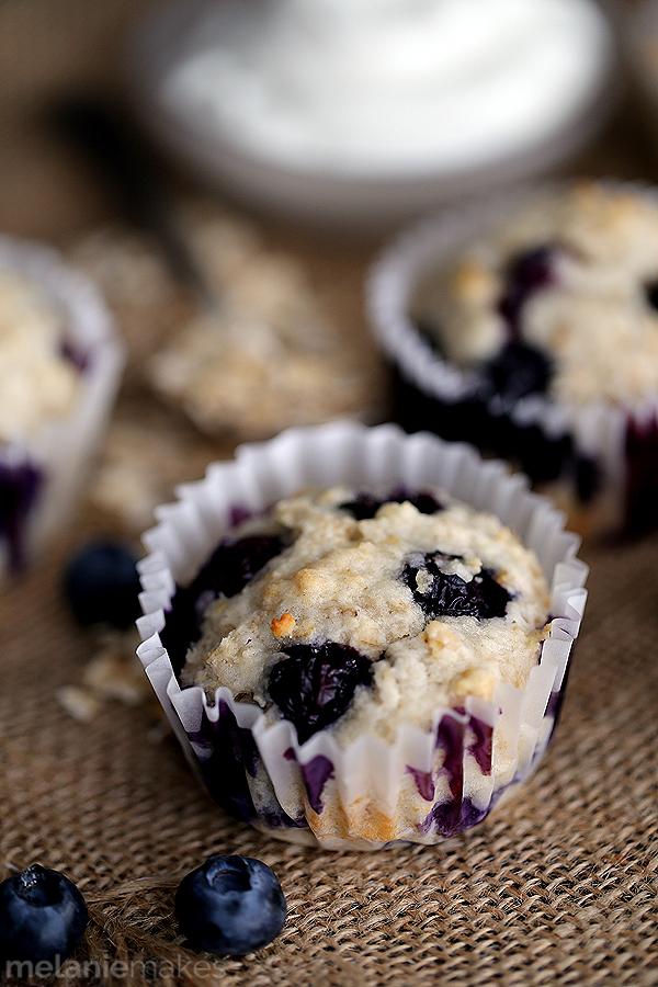 yogurt blueberry oatmeal muffins 4