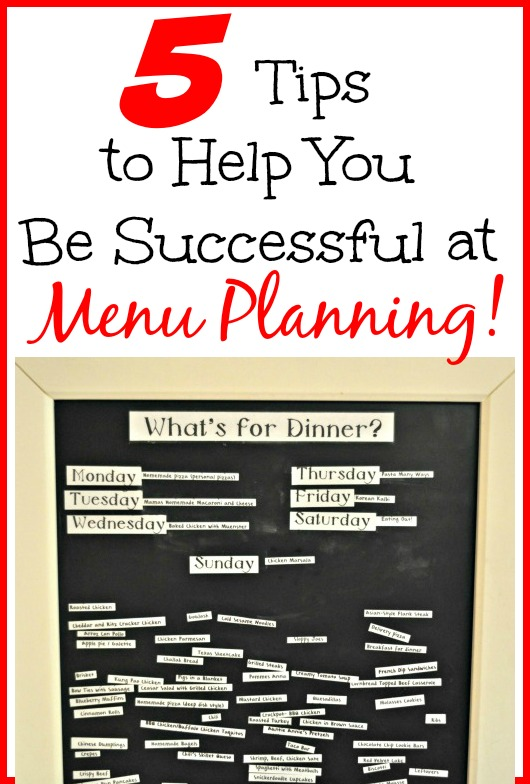 5 Tips To Make Small Space Bathroom Look Bigger: 5 Tips To Help You Be Successful At Menu Planning