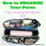 The Perfect Purse Organizer + Giveaway!