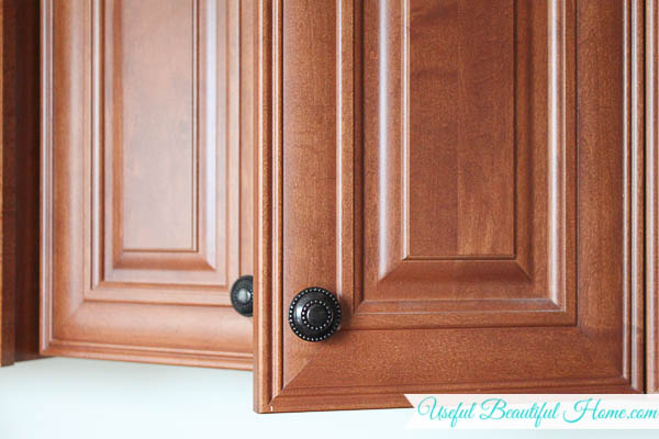 Using the inside of a cabinet door for organizing