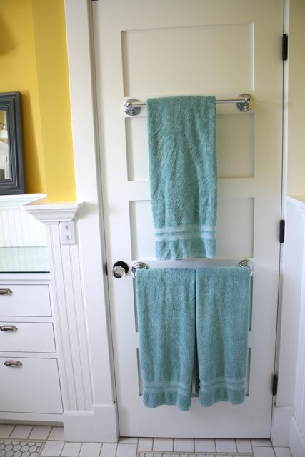 7 more ways to get organized using doors for Door towel racks for bathrooms