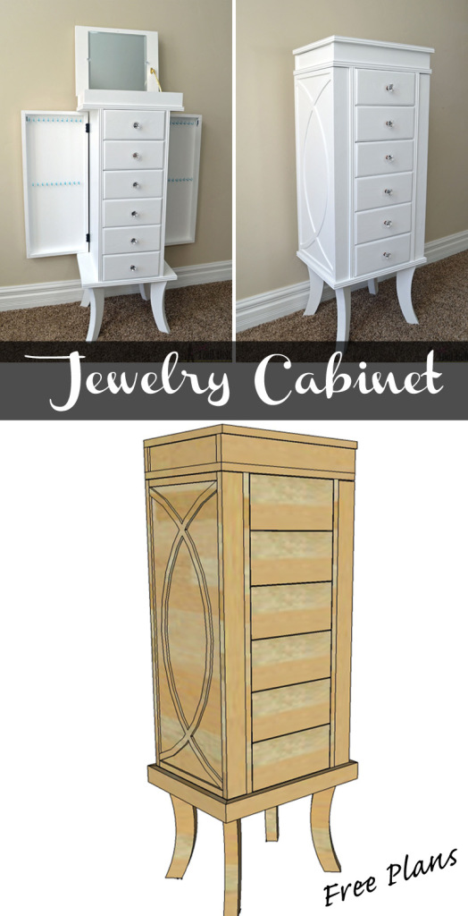 Diy jewelry organizer organized homes daily declutter Wardrobe cabinet design woodworking plans