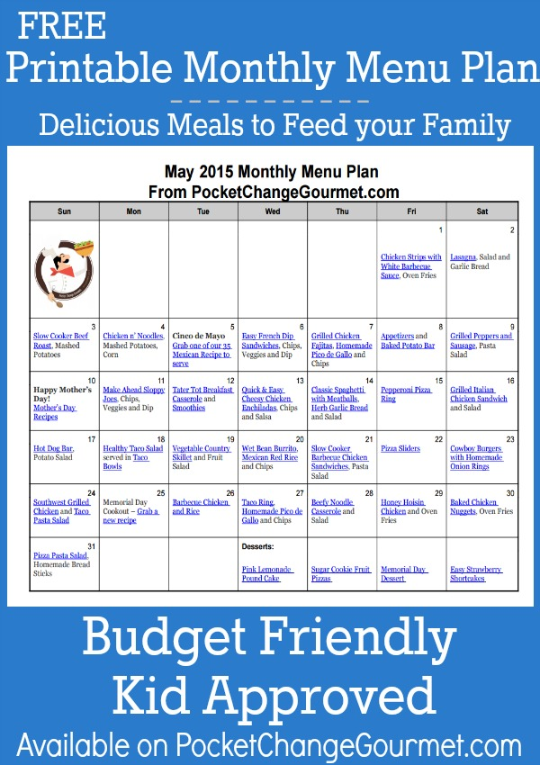 Menu Plan Monday ~ May 4/15