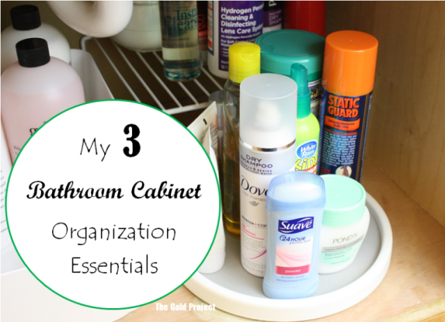 3 bathroom cabinet organization essentials