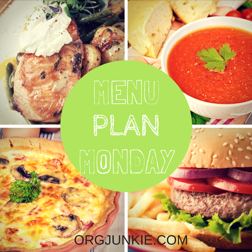 Menu Plan Monday for the week of Sept 7/15. Recipe links and menu planning inspiration!!