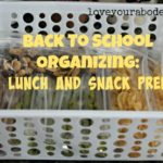 Back to School Organizing: Lunch and Snack Prep