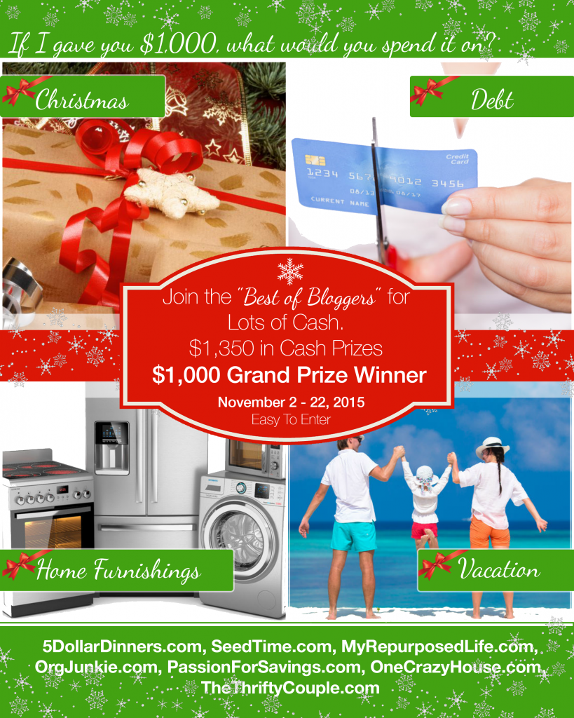 $1000 Cash Giveaway!!! How would you spend $1000?