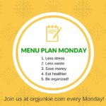 Menu Plan Monday ~ Feb 1/16