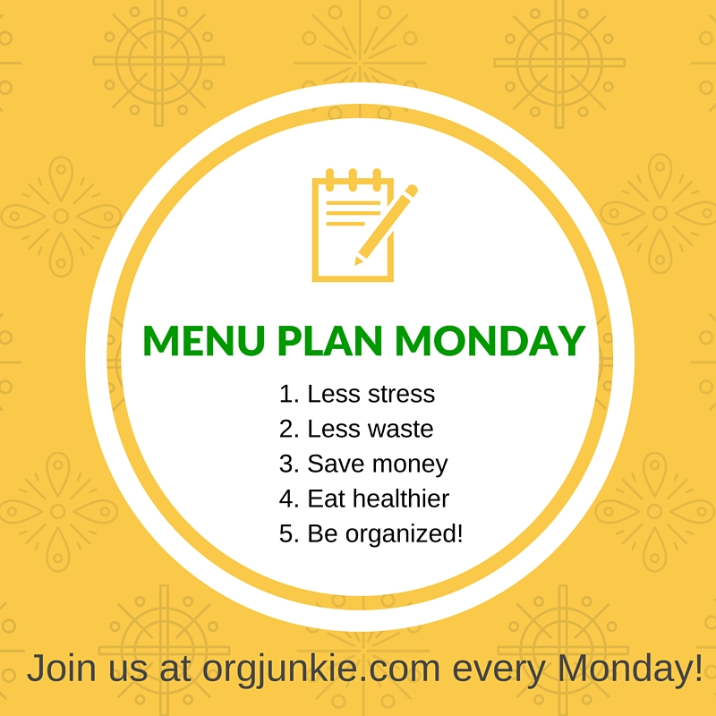 Menu Plan Monday - recipe ideas and menu planning inspiration for the week of Jan 18/16