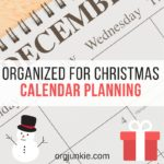 Organized for christmas calendar planning