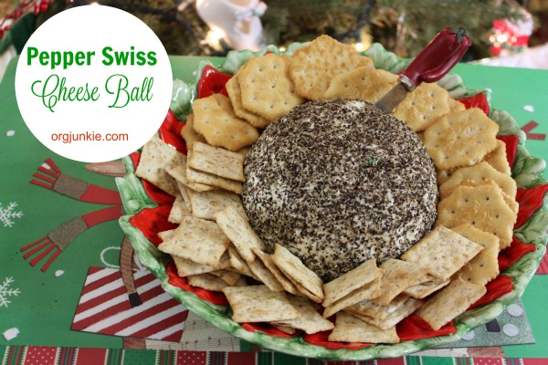 Pepper Swiss Cheese Ball
