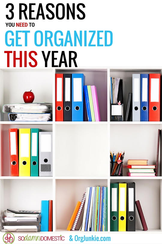 3 Reasons You Need to Get Organized This Year at I'm an Organizing Junkie blog