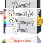 Essential Products for Organizing Paper