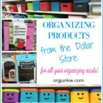 Organizing Products from the Dollar Store border